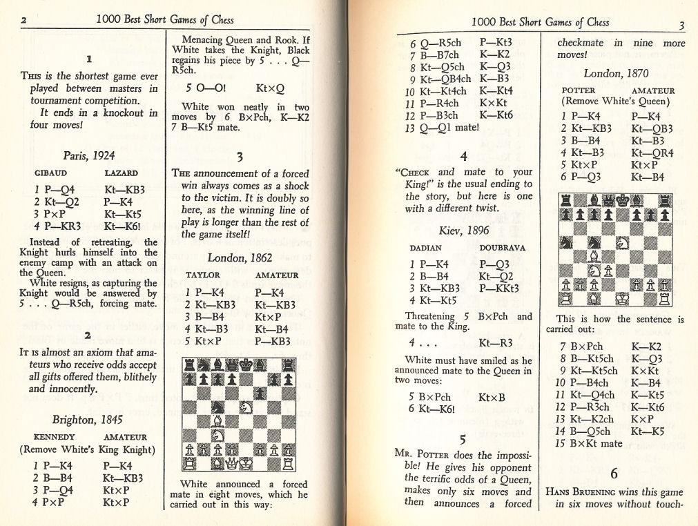 1000 Best Short Games of Chess: Chernev, Irving ...