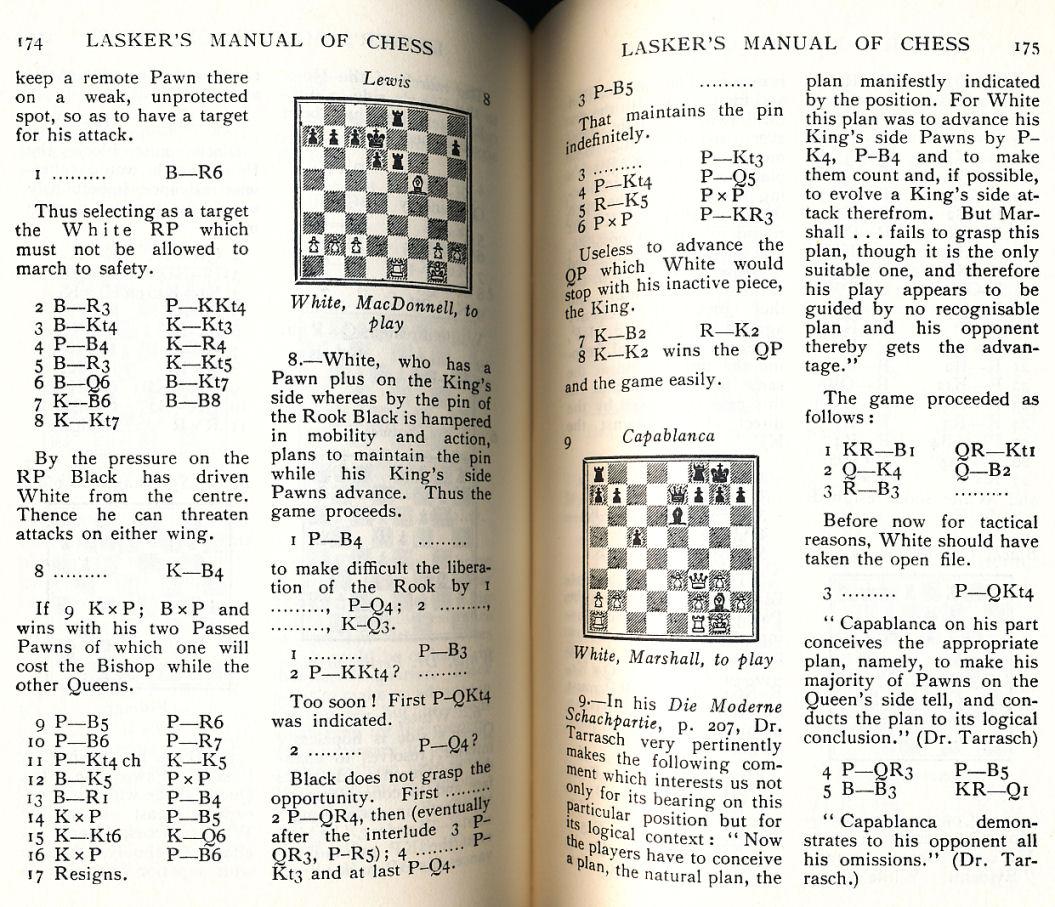 lasker manual of chess pdf