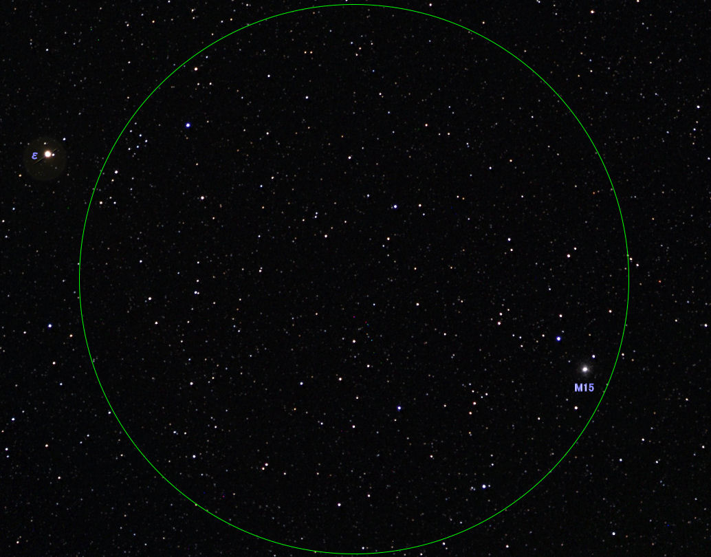 双眼鏡で見る秋の星空・M15(球...