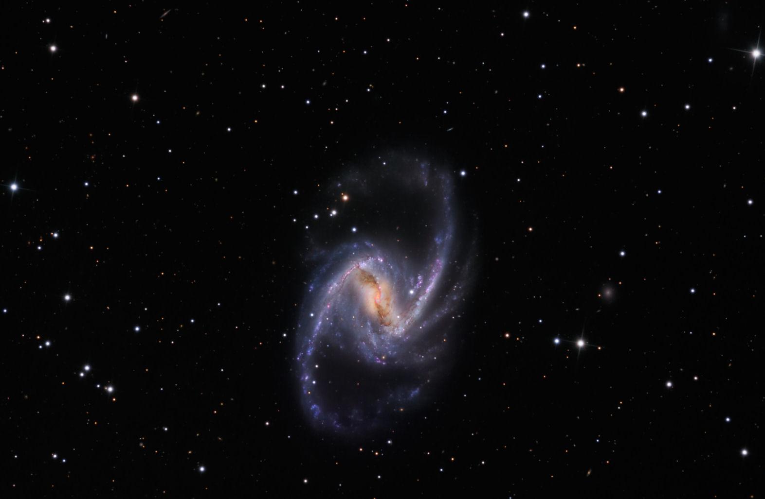 天空の果実」・NGC1365 棒渦巻銀...
