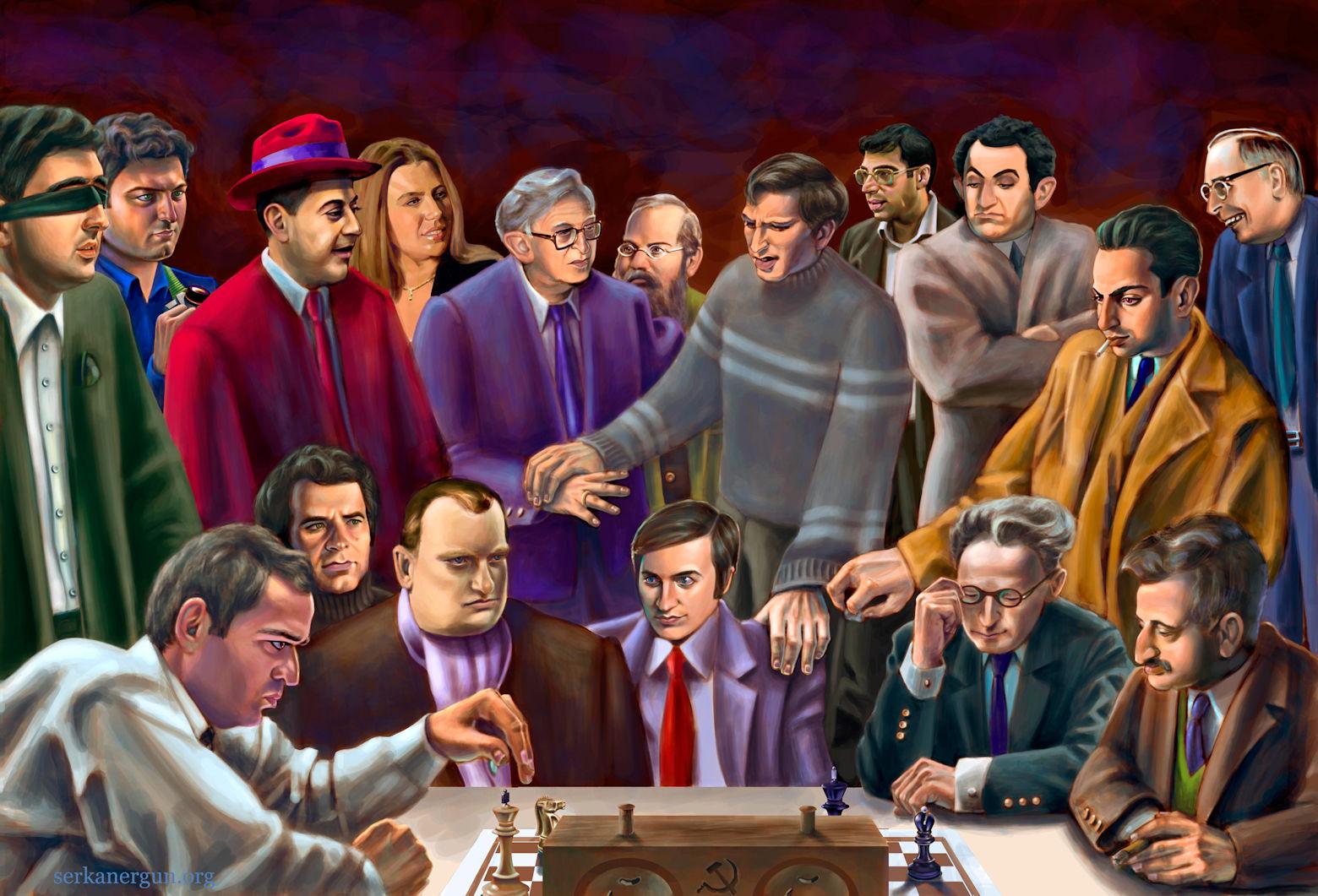 チェス・世界チャンピオンの肖像...