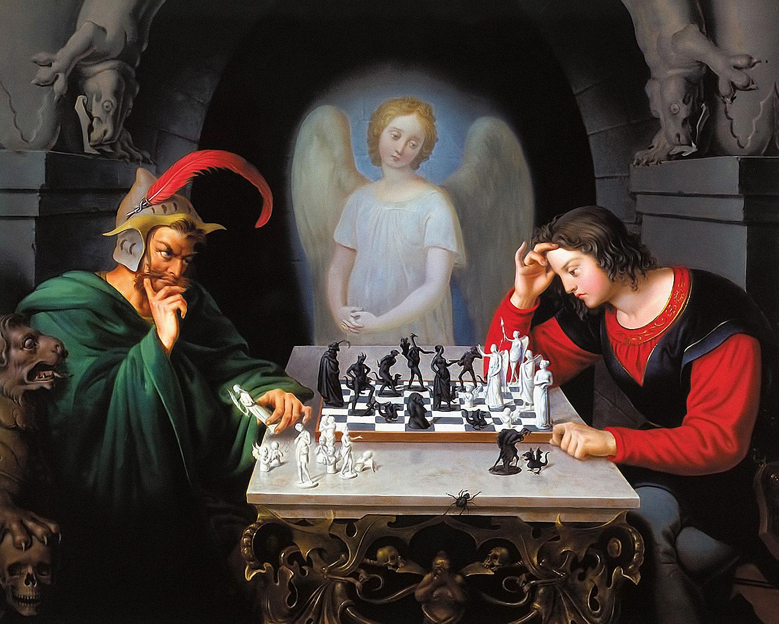 チェス・世界チャンピオンの肖像(モーフィーと「Moritz Retzsch」との ...